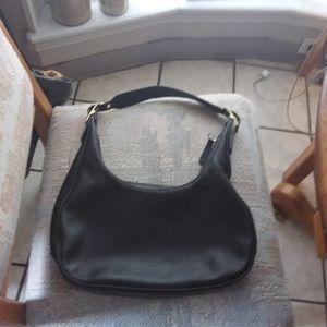 Coach Black Leather Hobo Bag style 9591